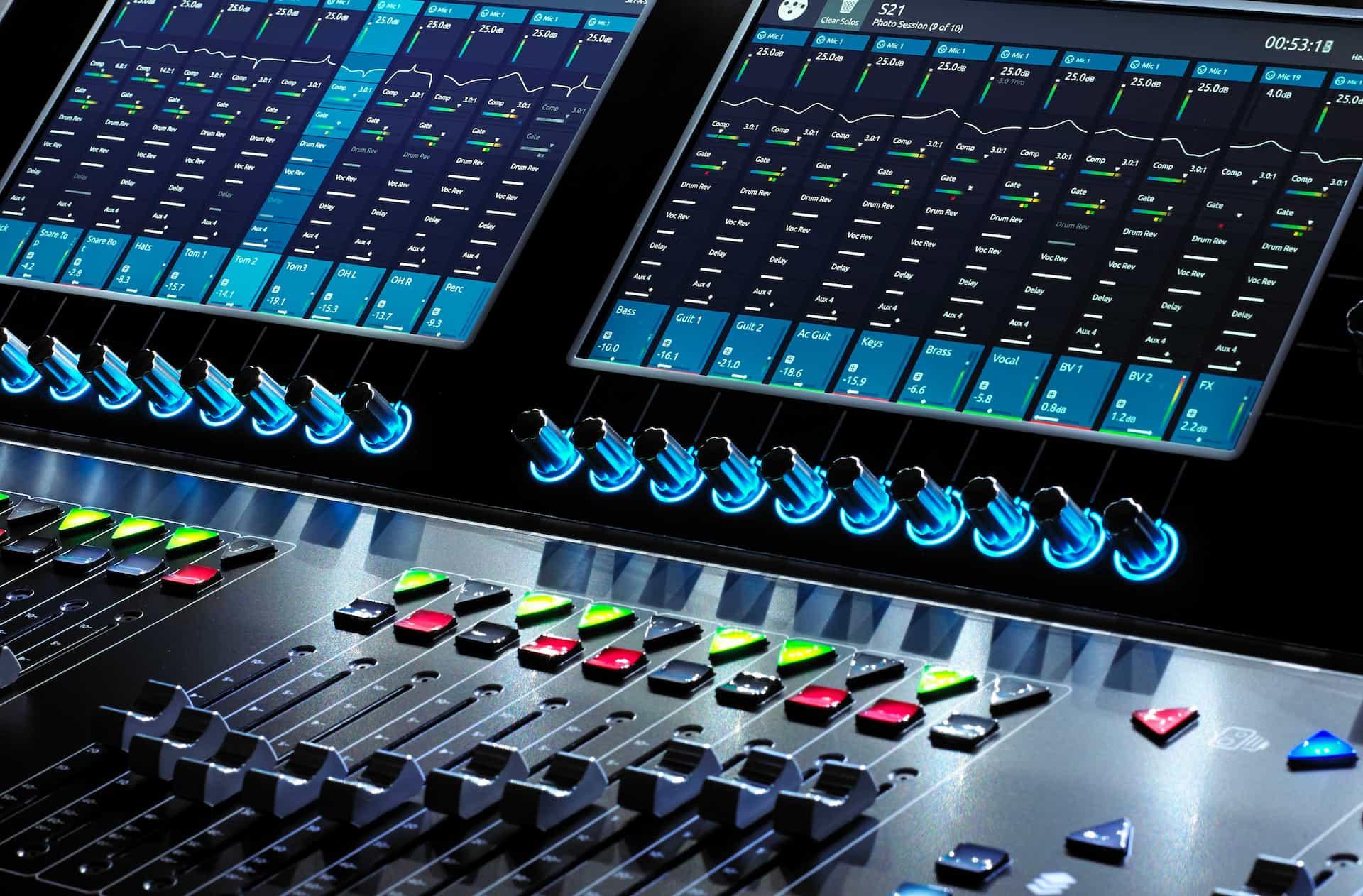 AV Sound Desk at a Live Event